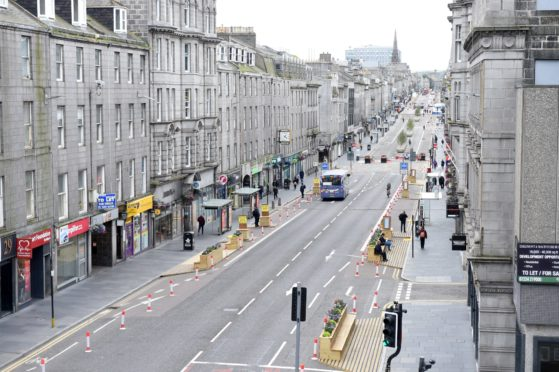 Union Street, from the balcony of the Lord Provost's office in Aberdeen Town House in mid-September. Picture by Paul Glendell.