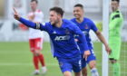 Mitch Megginson struck twice for Cove Rangers.