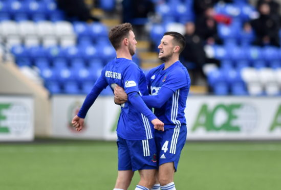 Mitch Megginson and Connor Scully celebrate. Picture by Scott Baxter