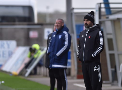 Cove Rangers manager Paul Hartley takes his side back to Falkirk today.