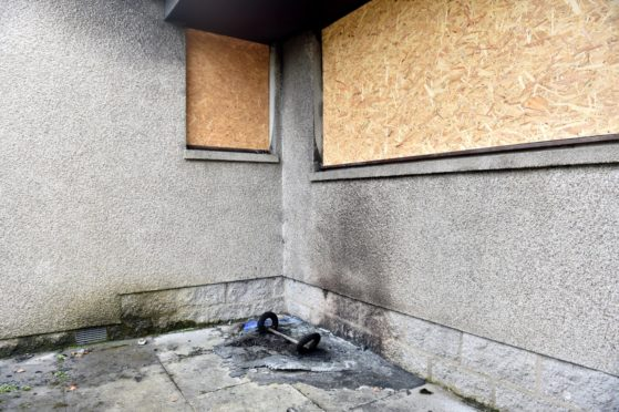Fire damage to Central Buchan Medical Practice, New Pitsligo.  Picture by Scott Baxter