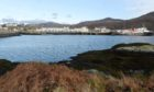 Western Isles, Outer Hebrides. South Usit, Caledonian MacBrayne, Lochboisdale, MV Isle of Arran.