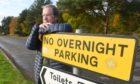 Councillor Gordon Adam at the North Kessock car park