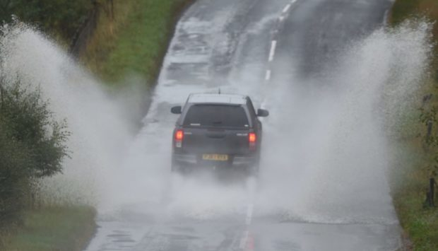 The weather warning comes into force at 3am on Saturday