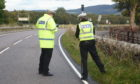 Police at the scene on the A82 near Urquhart Castle