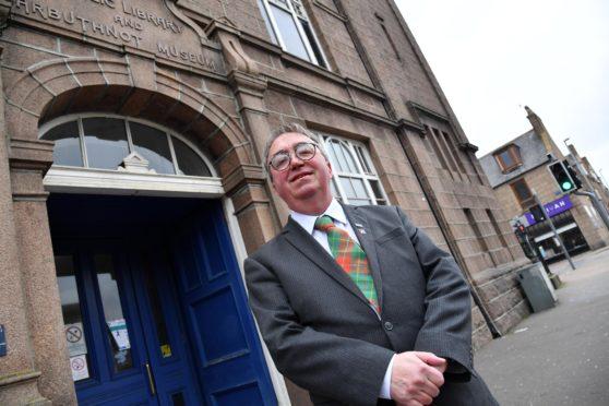 Councillor Stephen Calder in Peterhead.