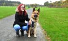 Fraserburgh heart and lung transplant survivor Kelly Watson and her dog Ruaridh at Aden Country Park.
