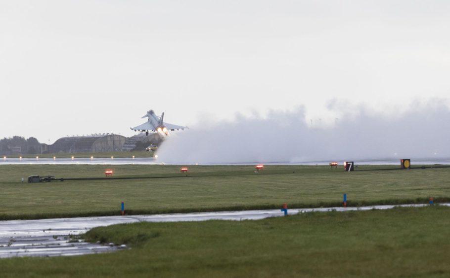 Typhoon launching from Leuchars.