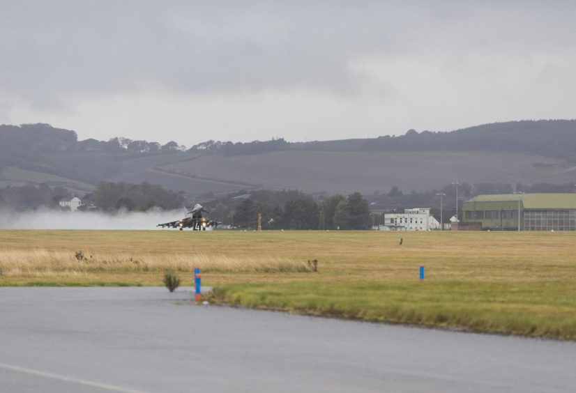 Typhoon takes off Leuchars