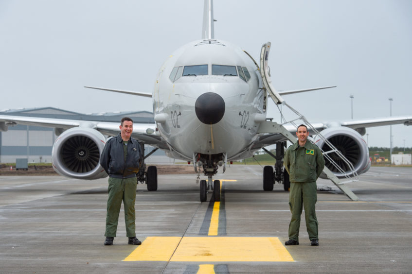 Station Commander Group Captain Chris Layden and (right) James Hanson (OC Squadron CXX)