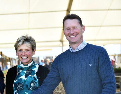 Patsy and Ian Hunter bred the record priced lamb from their Dalchirla flock.