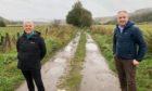 Rothes Way Association member Pat Flynn and Moray MSP Richard Lochhead.