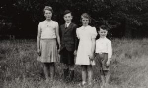 William MacKenzie is pictured far right with his siblings, John, Peter and Barbara.