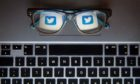 File photo dated 30/11/15 of the logo of social network site Twitter reflected in a pair of glasses. Twitter has blocked the Government from potential sources of counter-terrorism intelligence, according to reports. PRESS ASSOCIATION Photo. Issue date: Wednesday April 26, 2017. Police and security services including MI5 are said to have been cut off from some of the vast pools of data on the site. See PA story TECHNOLOGY Terror. Photo credit should read: Dominic Lipinski/PA Wire    twitter stock generic