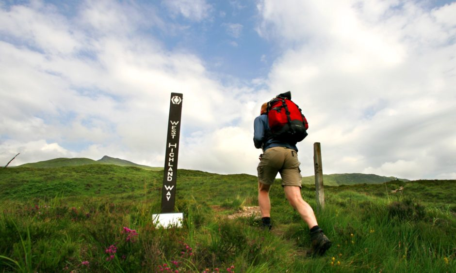 A section of the West Highland Way in Glencoe.