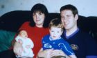 Alistair Wilson with his family