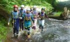 youngsters taking part in outdoor activity at Aberfoyle.