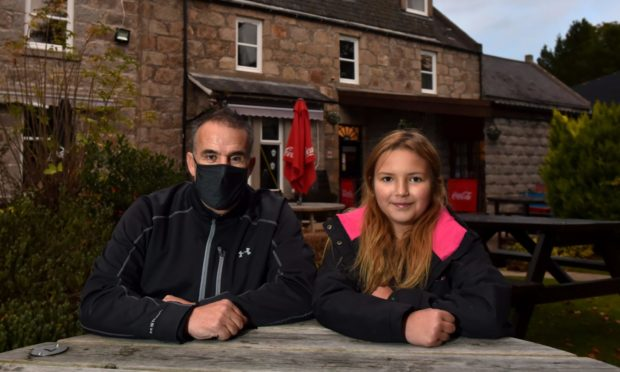 Sandy Elrick and granddaughter Kaelan Hurrell, 10.