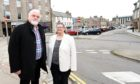 Leslie Forsyth, Rediscover Peterhead and councillor Ann Allan in Peterhead. Picture by Jim Irvine
