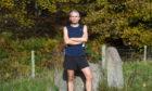 Hayden Lorimer at Brimmond Hill.  Picture by Jim Irvine  21-10-20