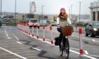 Aberdeen Cycle Forum spokeswoman Rachel Martin is disappointed the beach bike lane was given given only 54 days before being scrapped by councillors. Picture by Jim Irvine.