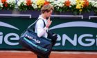 Alexander Zverev of Germany walks off after his fourth round defeat in the French Open.