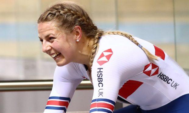 Double European champion track cyclist Neah Evans.