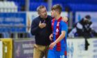 Inverness boss John Robertson with Rangers loanee Kai Kennedy.