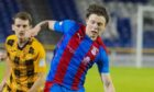 Harry Nicolson in action for Caley Thistle.