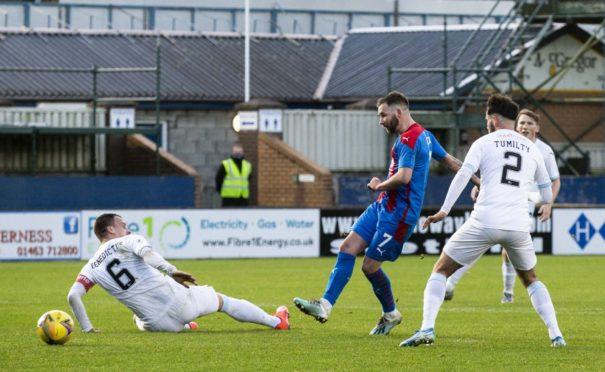 James Keatings scores Inverness' opener.