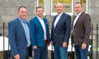 L-R: David Rennie, who has been appointed legal counsel for Mansefield Investments, alongside Harry, Mark and Philip Patterson.