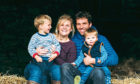 The Robertson family - Eilidh, Craig, Jack (3) and Andrew (1)