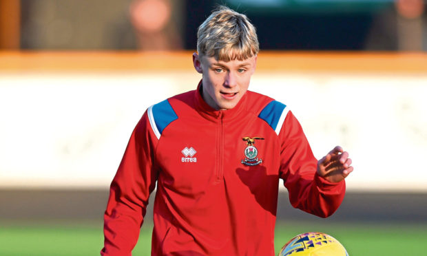 Caley Thistle youngster Roddy MacGregor.