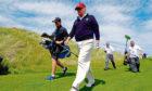 Donald Trump pictured at Trump International Golf Links in Balmedie.