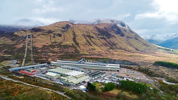 The aluminium smelter at Fort William.