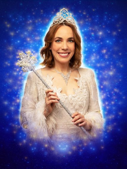 Call The Midwife's Laura Main as the Fairy Godmother in Cinderella, last year.