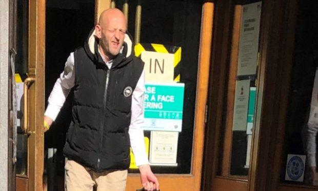 Andrew Jones leaving Aberdeen Sheriff Court.