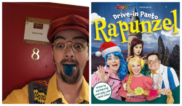 Kapow's producer, Daniel Cullen (left), has organised the drive-in panto.