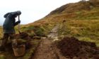 Path maintenance on Ben Lomond. The NTS has recorded a major increase in erosion on its mountain paths in 2020. Supplied by National Trust for Scotland