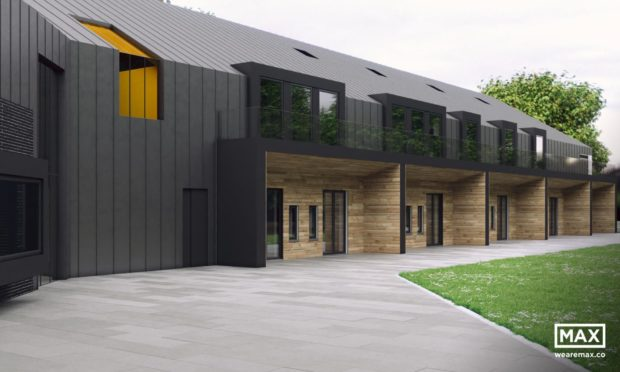 Artist's impression of the proposed Charlie House specialist support centre in Aberdeen