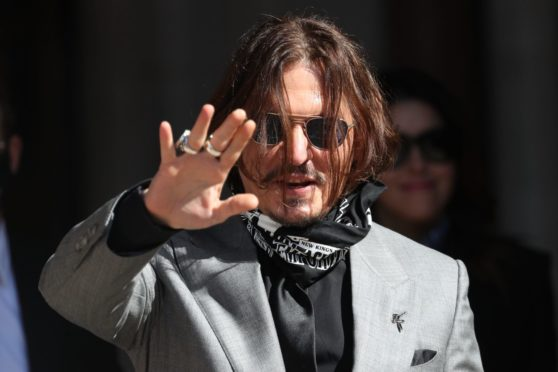 Pictured: Johnny Depp
