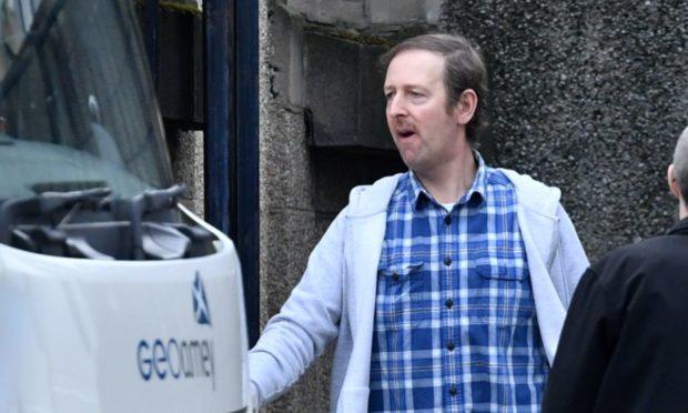 Stewart Murray previously leaving Aberdeen Sheriff Court.