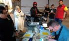 An Inverness print company has worked with an arts centre in Kuwait to take a multicultural project online after it was paused by Covid-19.