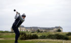 Stephen Gallacher tees off on the twelfth hole during day one of The Scottish Championship at Fairmont St Andrews.