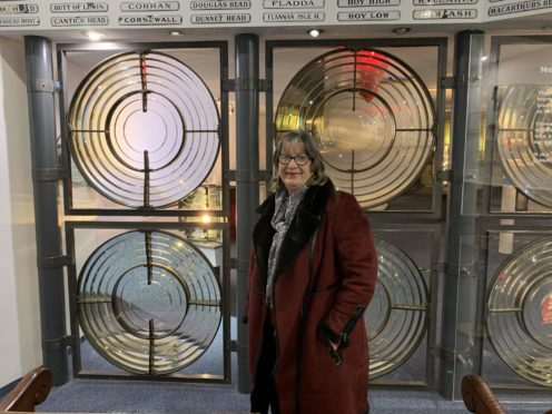 Lynda McGuigan, manager, at the Museum of Scottish Lighthouses.