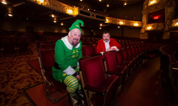 Actors Andy Gray and Grant Stott at Kings Theatre, Edinburgh