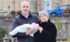 Elgin councillors Ray McLean and Maria McLean with baby daughter Sofia.