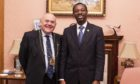 Project coordinator Olushola Ajide and Lord Provost Barney Crockett.
