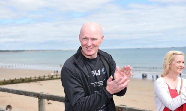 Former footballer Martin Johnston at the charity run in his honour in August.