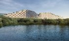 Artist impression showing the plan for flats next to Rubislaw Quarry.